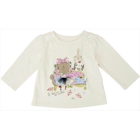 Klever Kids FW12-I19-3-6 Baby Girl -Knit Long Sleeve Crew Neck Graphic T-Shirt, 3-6 Months