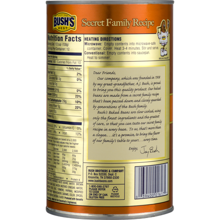 BUSH'S Original Baked Beans, 55 oz.