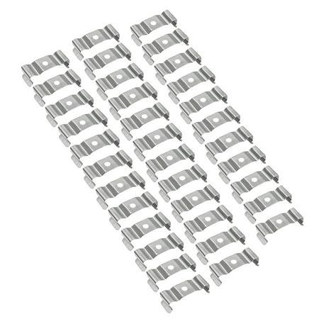 35 Packs T8 LED Light Bulbs U Clips Holder (32 x12 x 10mm) - image 1 of 4