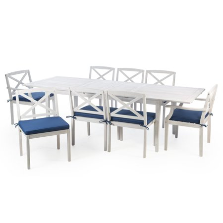 Belham Living Brighton Beach Wood Extension Patio Dining Set