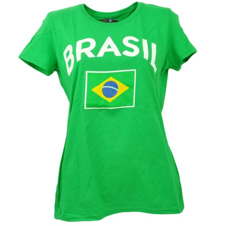 Brasil Copa America Centenario USA 2016 Tshirt Tee Green Womens (Clothing Stores In Destiny Usa)