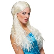 Barbarian Bride Costume Wig (Platinum Blonde)