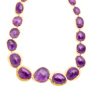 151 ct Amethyst Necklace in 18kt Gold-Plated Sterling Silver