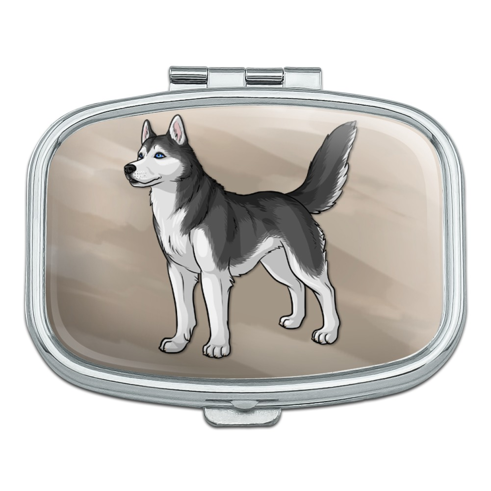 Siberian Husky Pet Dog Rectangle Pill Case Trinket Gift Box