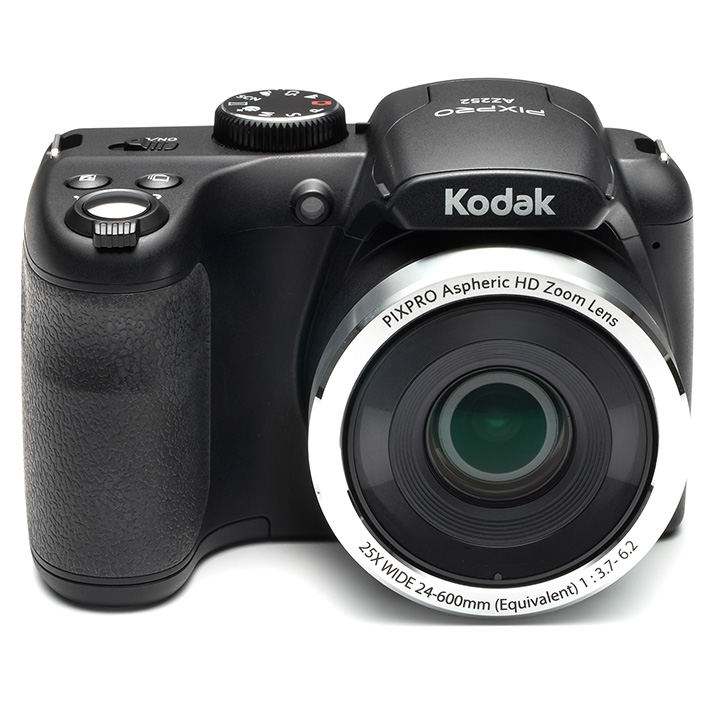 KODAK PIXPRO AZ252 Bridge Digital Camera with - 16 MP - 25X Optical Zoom - HD 720p Video (Black)