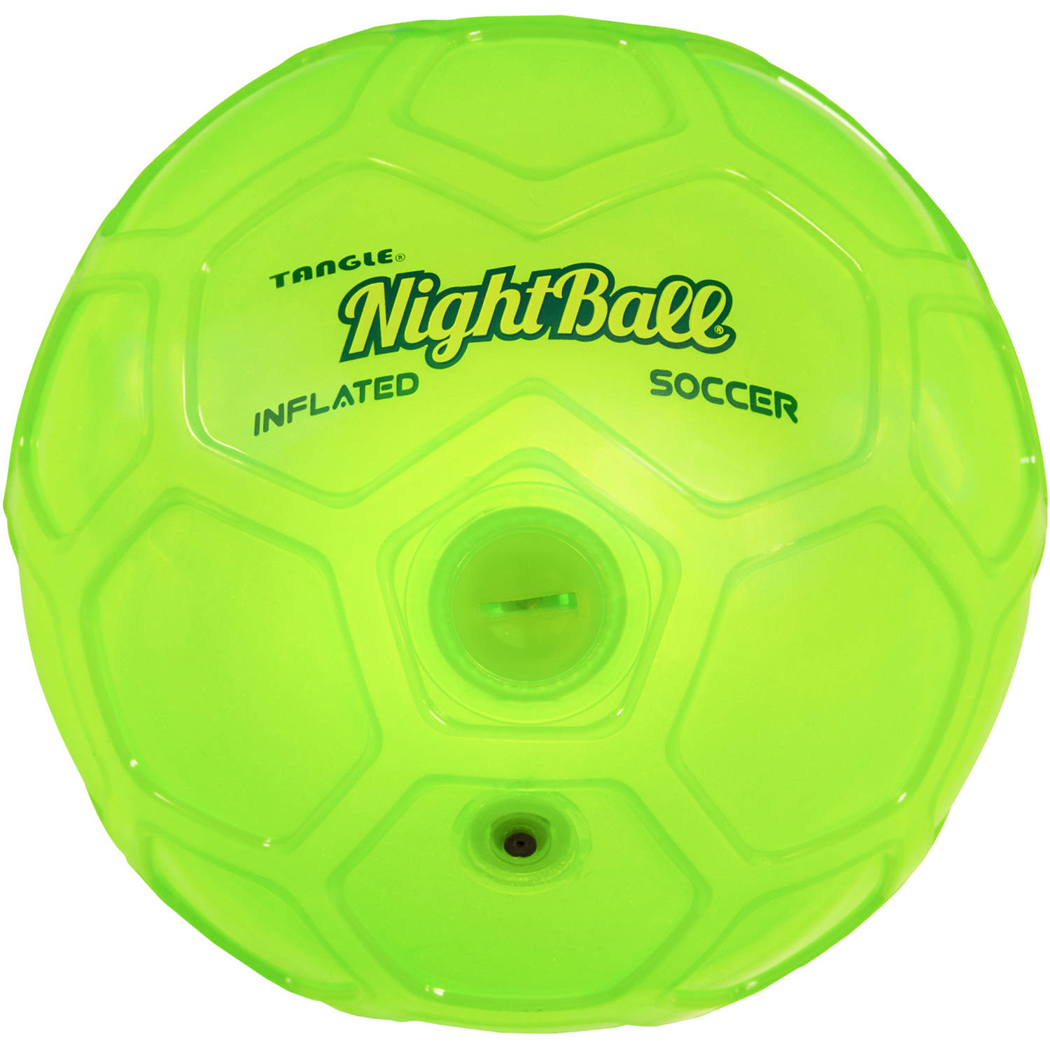 Tangle Night Soccer Ball, Size 5, Green
