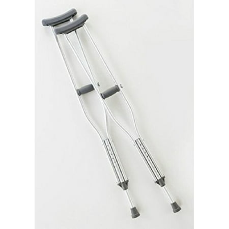 Push Button Adult Crutches - Adult crutches, push button, adjustable, 62