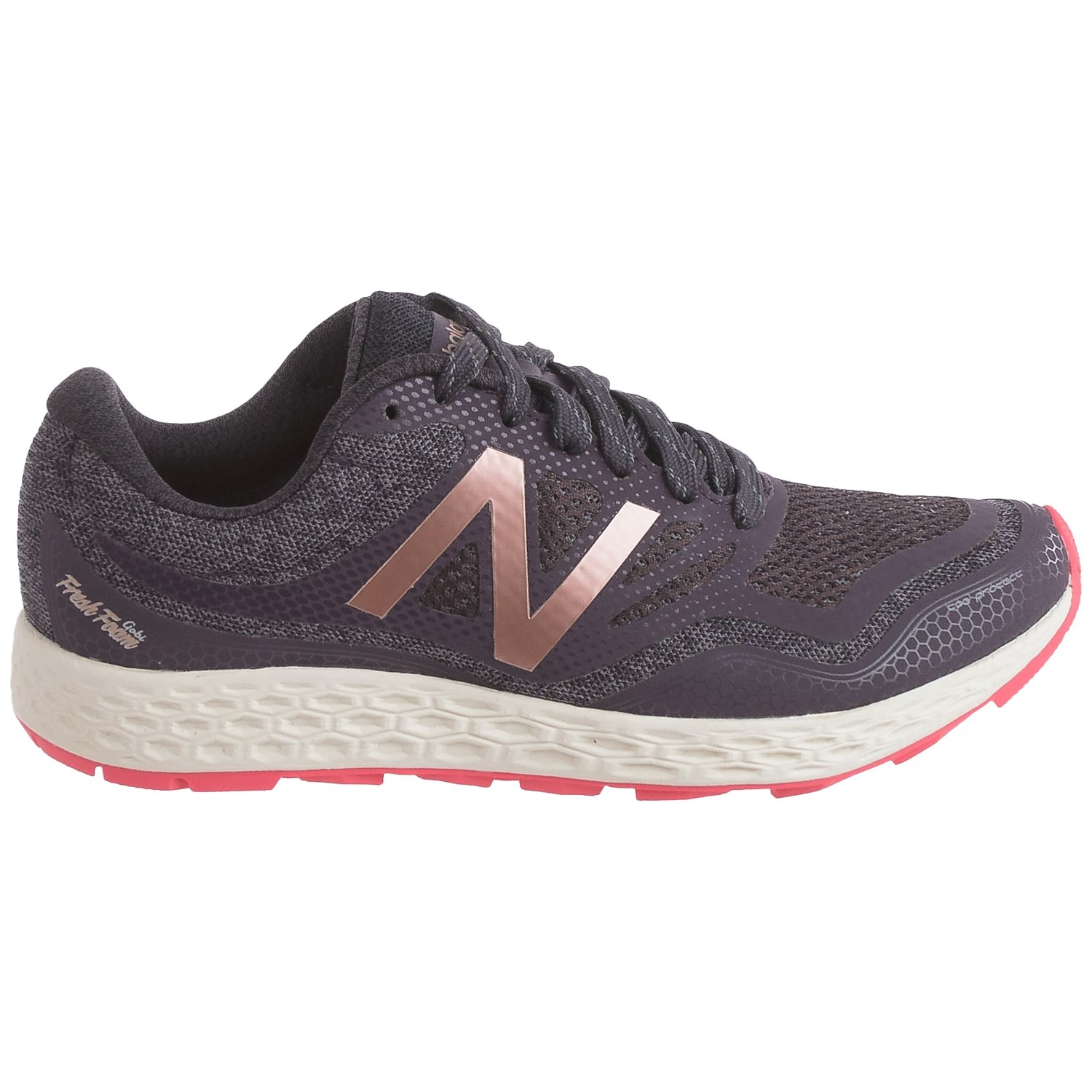 New Balance Women's Fresh Foam Gobi Trail Running Shoe, Grey/Pink (12 B(M) US)