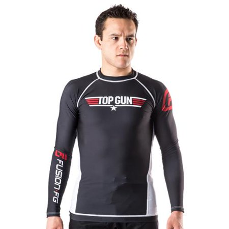 Fusion Fight Gear Top Gun Classic Long Sleeve Rashguard - Black