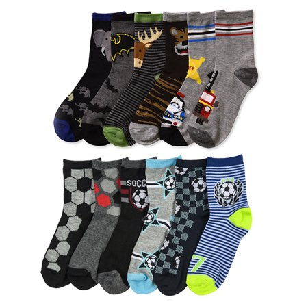 All Top Bargains 6 Pairs Boys Socks Crew Wholesale Casual Size 4-6 4T 5T Lot Little Kids Fashion