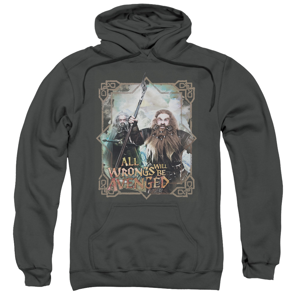 The Hobbit Wrongs Avenged Mens Pullover Hoodie