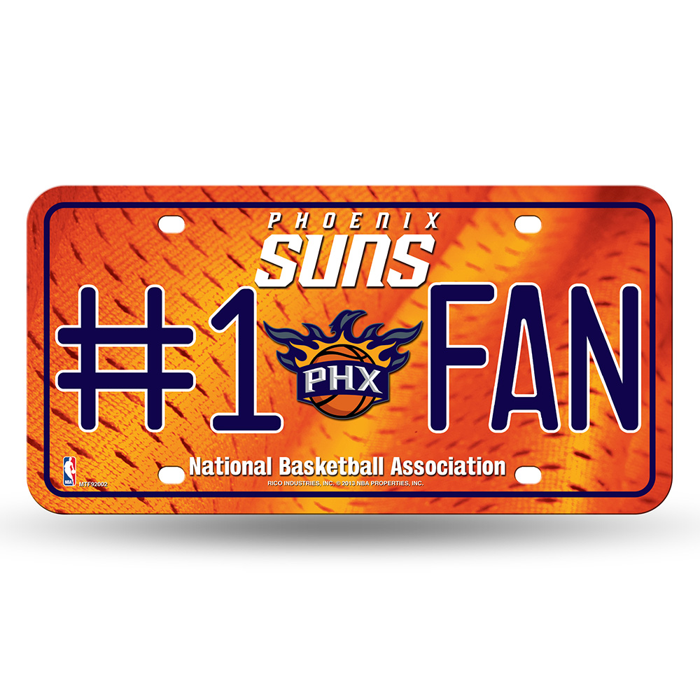 Phoenix Suns NBA Metal Tag License Plate (#1 Fan)