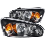 ANZO 2004-2007 Chevrolet Malibu Crystal Headlights Black