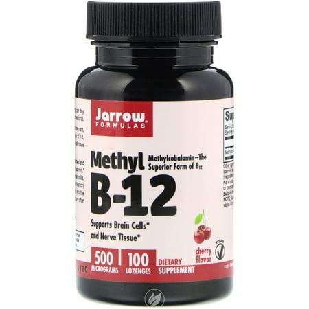 JARROW Methyl B12, Methylcobalamin 500 MCG 100 LOZENGES, Pack of 2