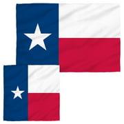 Texas Flag Face Hand Towel Combo White