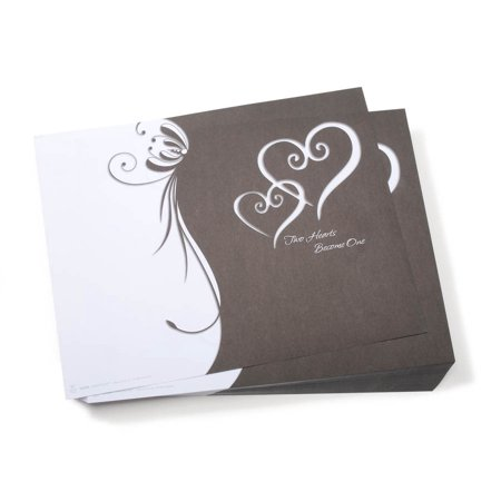 Victoria Lynn Heart Wedding Program Kit: Two Hearts, 100 programs (Wedding Program Paper)