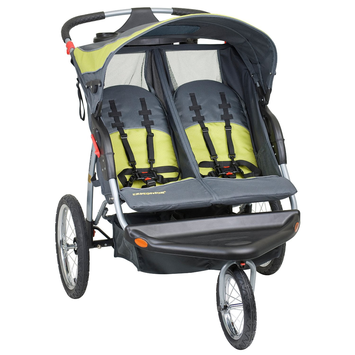 Baby Trend Expedition Swivel Double Jogger Baby Jogging Stroller Carbon by Baby Trend
