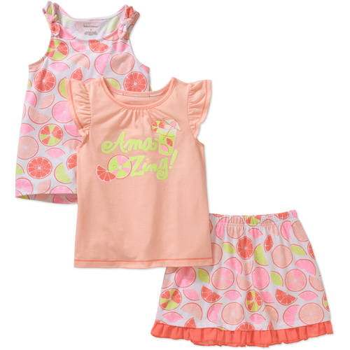 New Healthtex Baby Girl Peach Mermaid In Training Two Piece Swimsuit 0-3 Months