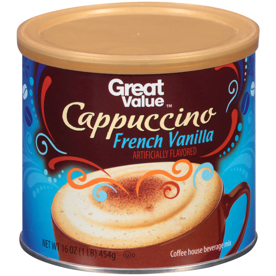 Great Value French Vanilla Cappuccino Beverage Mix, 16 oz