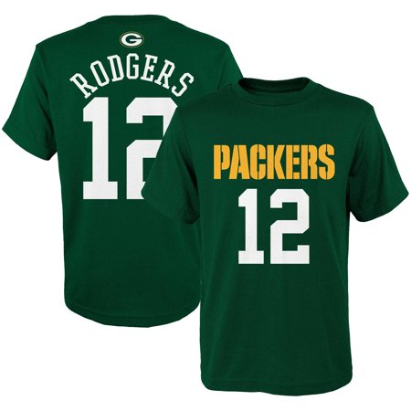 Aaron Rodgers Green Bay Packers Youth Mainliner Name & Number T-Shirt - Green (Youth Aaron Rodgers)