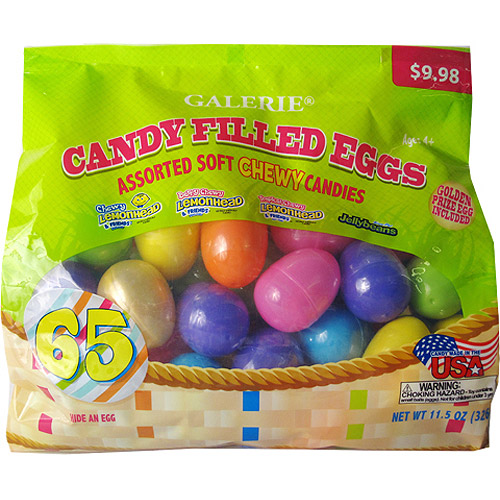 Candy-Filled Easter Eggs, 65ct
