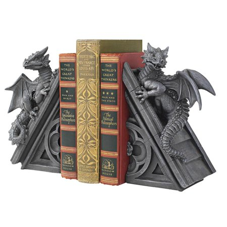 Design Bookends - Design Toscano Gothic Castle Dragons Sculptural Bookends