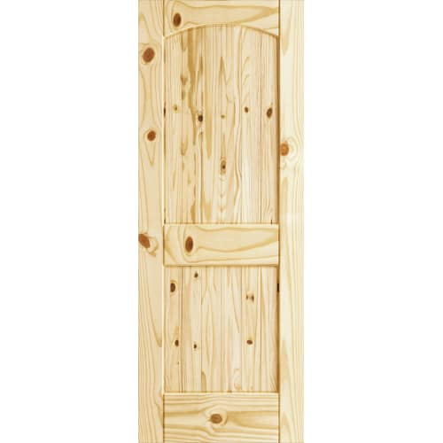 Frameport CKP-PD-RATVU-6-2/3X2-2/3 Colonial Knotty Pine 32 Inch by 80 Inch Rebat