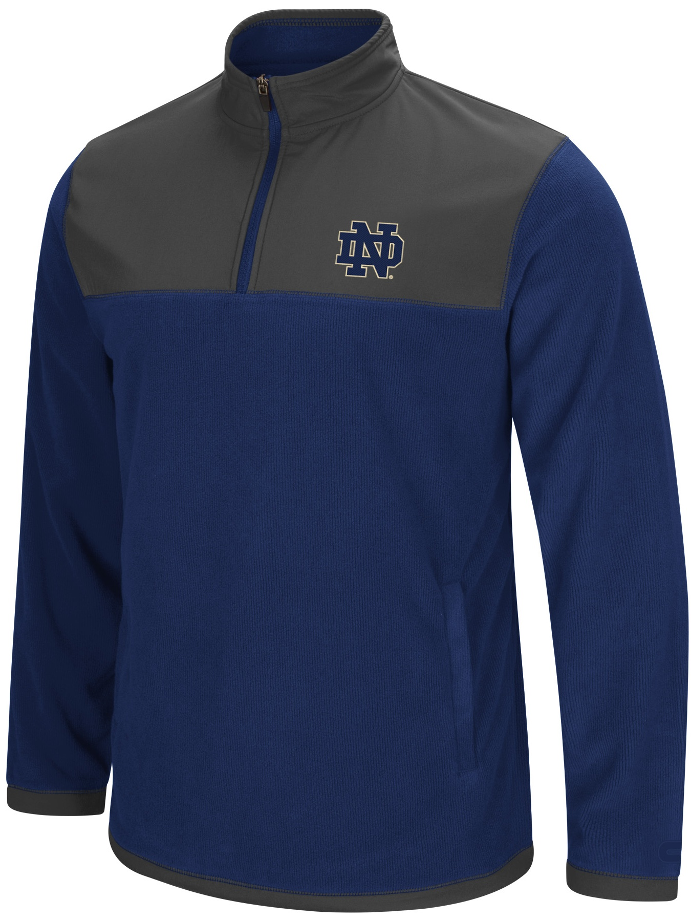 "Notre Dame Fighting Irish NCAA ""Blocker"" Men's 1 4 Zip Corduroy Fleece Jacket by Colosseum"