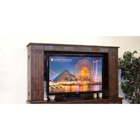 Sunny Designs Santa Fe Entertainment Wall Media Hutch In Dark Chocolate