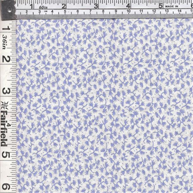 Textile Creations CALI-433 Calico New Arrivals 3, Small Leaves Blue & Ivory