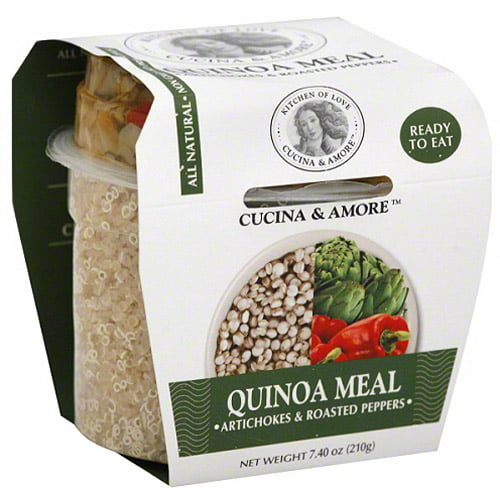 Cucina & Amore Artichoke & Roasted Peppers Quinoa Meal, 7.9 oz, (Pack of 6) by