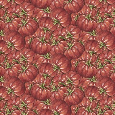 "Mia (Digital Print) 44/45"" Wide 100% Cotton D/R-Carol's Corner - Tomatoes"