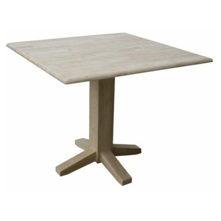 International Concepts T 36sdp Dual Drop Leaf Square Dining Table Ready To Finish