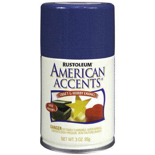 AmericanAccents 3 Oz Ocean Blue Semi Gloss Craft & Hobby Spray Enamel 209684  (Set of 6)