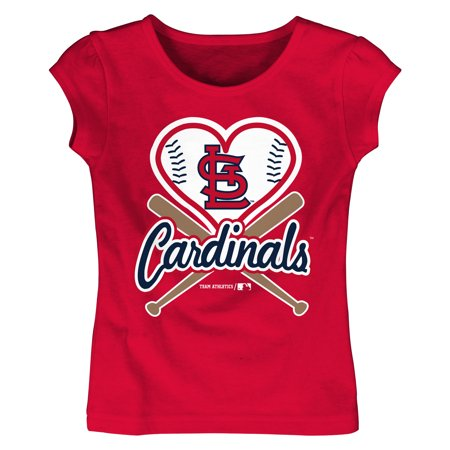 MLB St Louis Cardinals TEE Short Sleeve Girls Cotton Jersey Team Color - St Louis Cardinals Cake Decorations