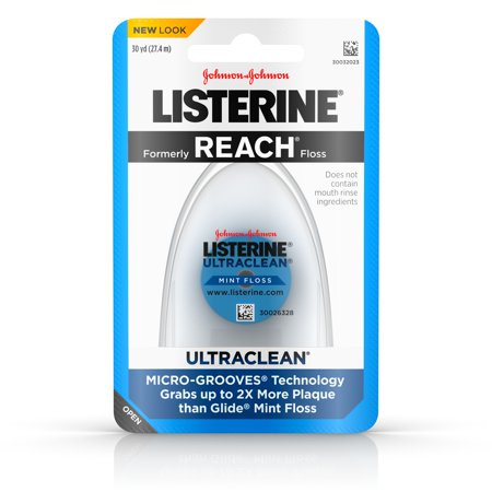 Listerine Ultraclean Dental Floss, Oral Care, Mint, 30 (Emergency Dental Care)