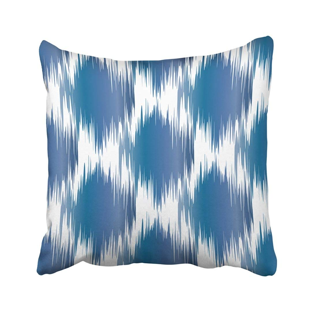 Picture of: Bosdeco Blue Watercolor Ikat Pattern Geometric Abstract Colorful Beautiful Bohemian Boho Pillowcase Throw Pillow Cover Case 18×18 Inches Walmart Canada
