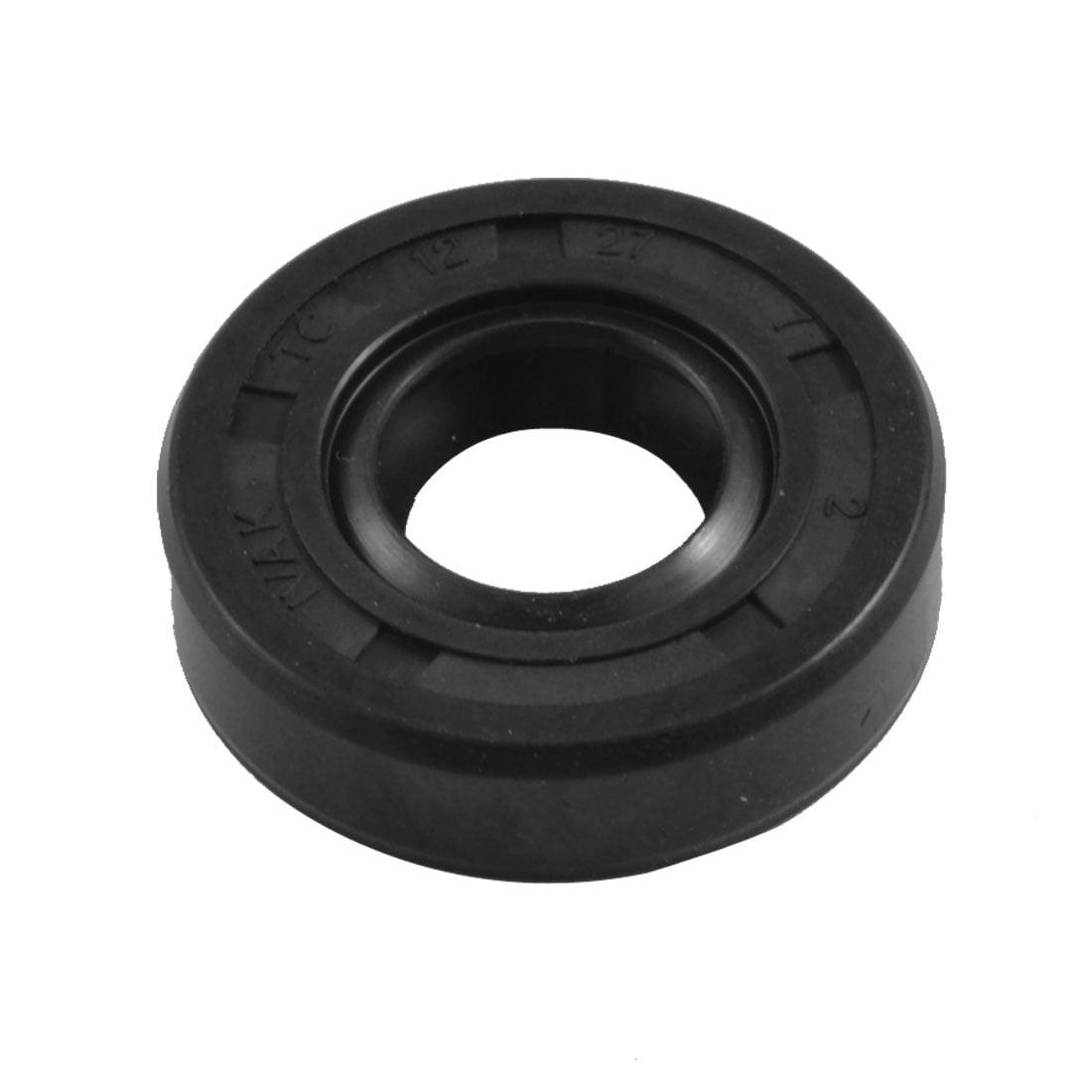 Unique Bargains 12mm x 27mm x 7mm Metric NBR Double Lipped Oil Shaft Seal TC