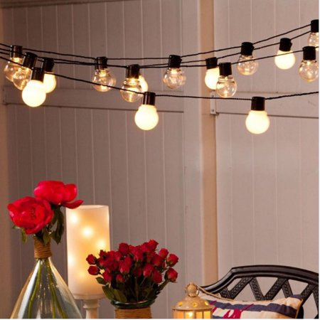 Waterproof Outdoor String Lights, 19.4Ft Patio String Light Lamp, Christmas String Lights for Garden Porch Backyard Party Yard Christmas Tree Decoration ()