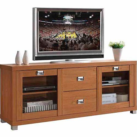 Techni Mobili Maple Tv Stand With 2 Drawers For Tvs Up To