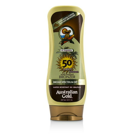 Australian Gold Lotion Sunscreen Broad Spectrum SPF 50 with Instant Bronzer -
