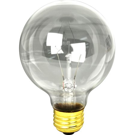 Feit Electric  25G25 25 Watt Clear Bath & Vanity Globe Light Bulb