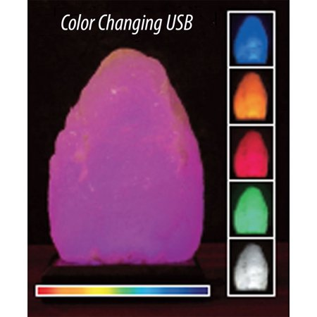 aloha bay himalayan salt lamps usb 5 color changing led. Black Bedroom Furniture Sets. Home Design Ideas