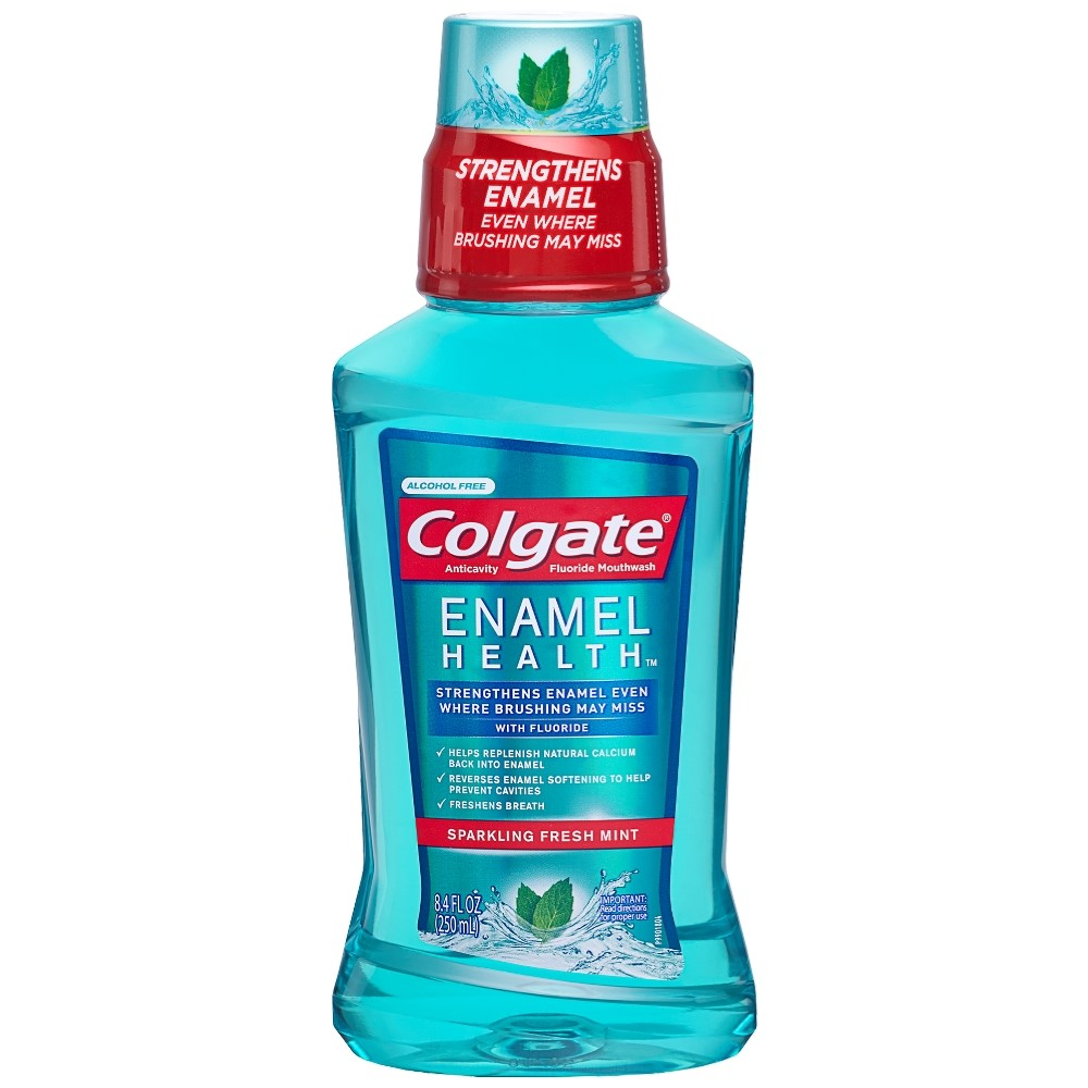 Colgate Enamel Health Mouthwash, Fresh Mint - 250mL, 8.4 fl oz