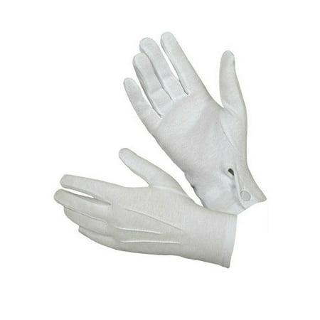 1Pair White Formal Gloves Tuxedo Honor Guard Parade Santa Men Inspection