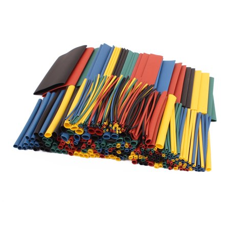 410 Pcs Heatshrinkable Cable Tubing Tube Sleeving Wrap Assorted Sizes Kit