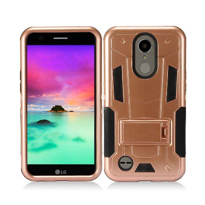 Rose Gold Contempo Tech Stand Case For LG K10 2017/ Grace (Grace Contempo Collection)