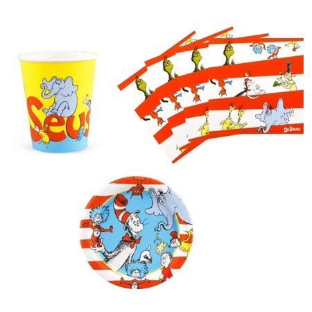 Dr Seuss Cat in the Hat Party Supplies Snack Pack Kit for 16