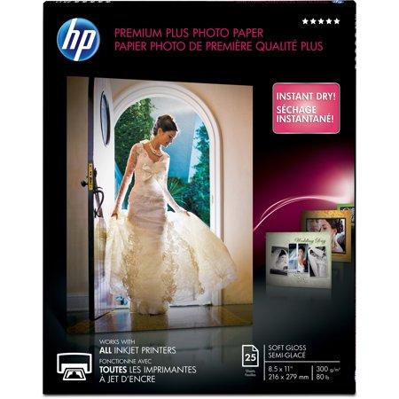 HP, HEWCR671A, Premium Plus Soft Gloss Photo Paper, 1 / Pack, White