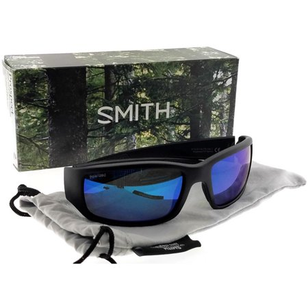 6a0942277d SMITH - Smith SM-PROSPECT-61 Rectangle Men s Black Frame Blue Lens  Polarized Sunglasses - Walmart.com